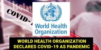 world health org declares pandemic