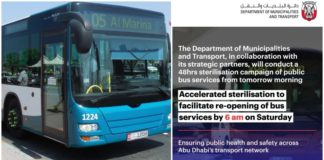 Bus Services to Resume Saturday in Abu Dhabi
