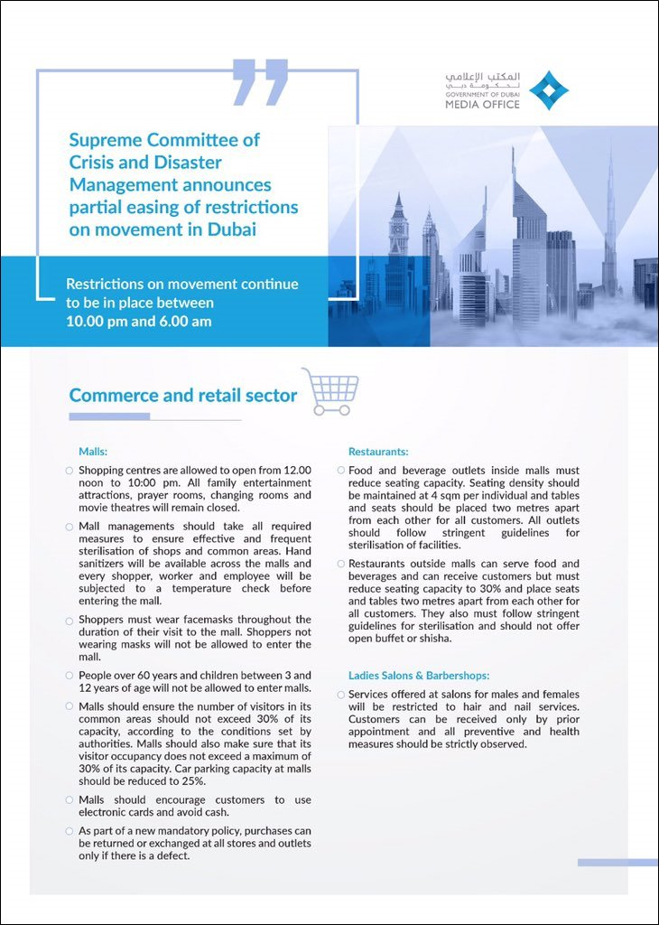 commercial retail sector guidelines dubai