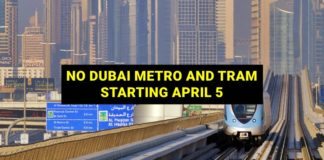 dubai metro and tram service closed