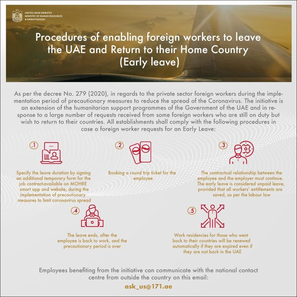 how to apply early leave uae initiative