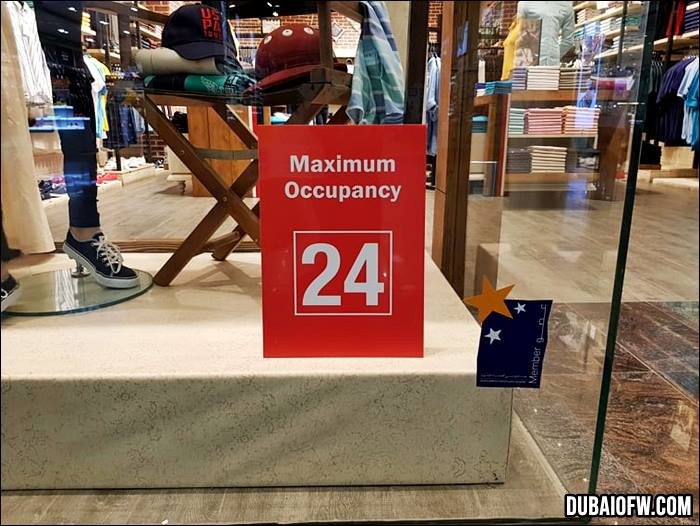 Mall outlets have maximum occupancy
