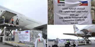 uae sends medical supplies to philippines