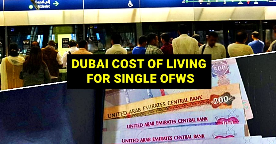 cost of living in dubai for single filipinos