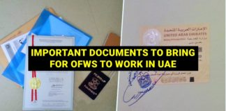 important documents to bring in uae