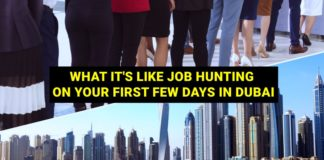 job hunting first few days arriving in uae
