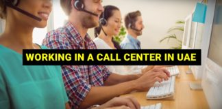 working in a call center in uae