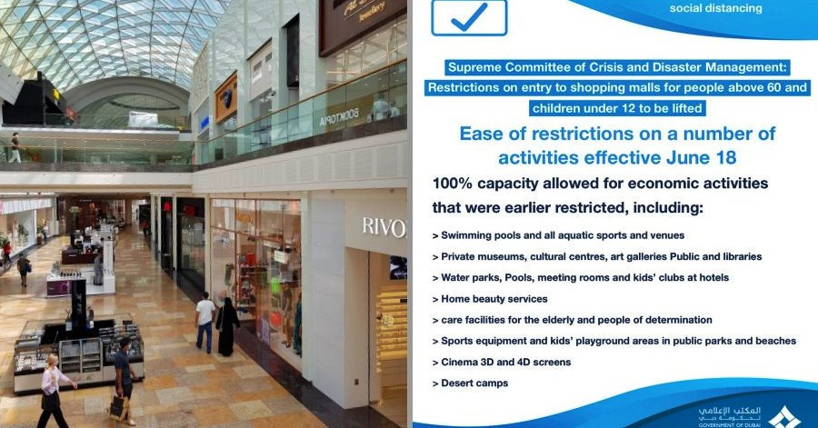 ease of restrictions dubai june 18