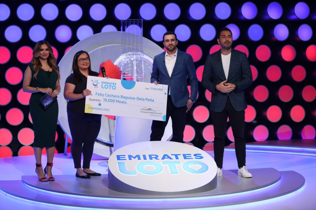 emirates loto supports feby cacher filipina jobless feed drive