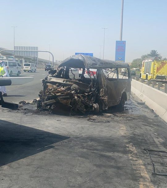 bus dubai crash