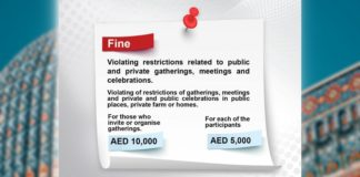 Beware: Up to AED 15,000 Fines for Organizing Gatherings in UAE