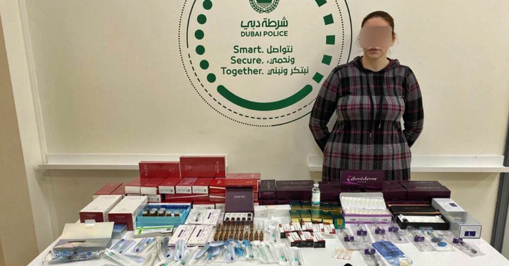 dubai police arrest woman unlicensed plastic surgery