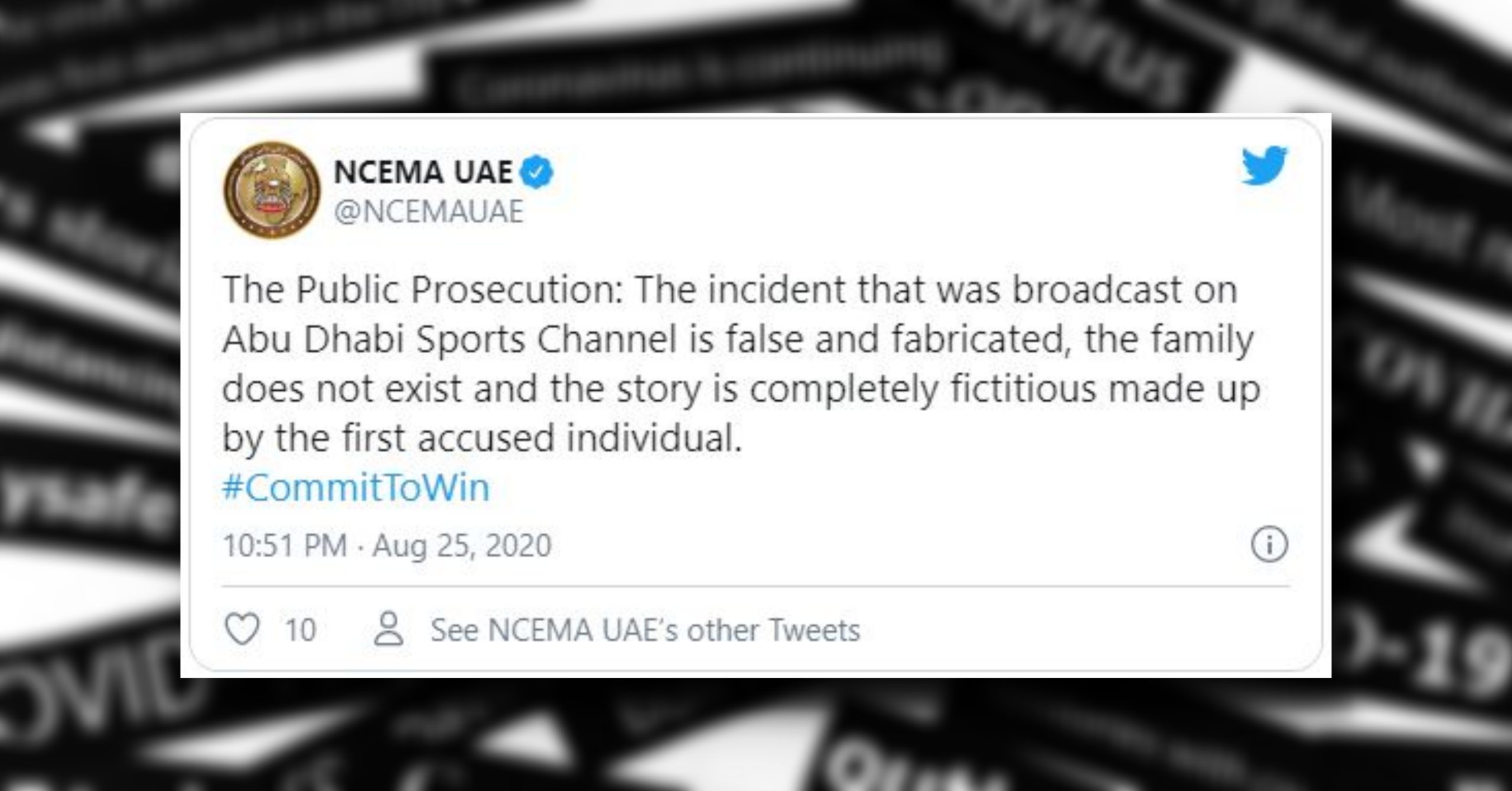 Two Arrested for Spreading Fake News Involving '5 COVID-19 Deaths in a Family' in UAE