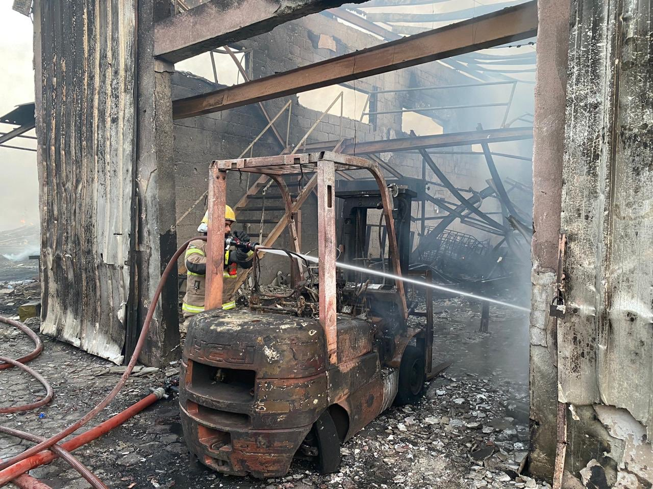 ajman authorities put out fire