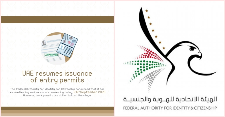 UAE Resumes Issuing Entry Permits Except for Work Visas Starting September 24