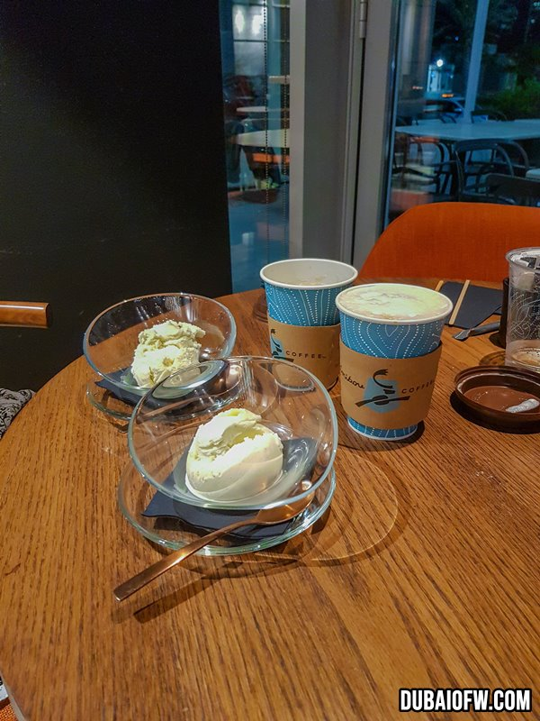 desserts at Q6 Bistro - Caribou Coffee