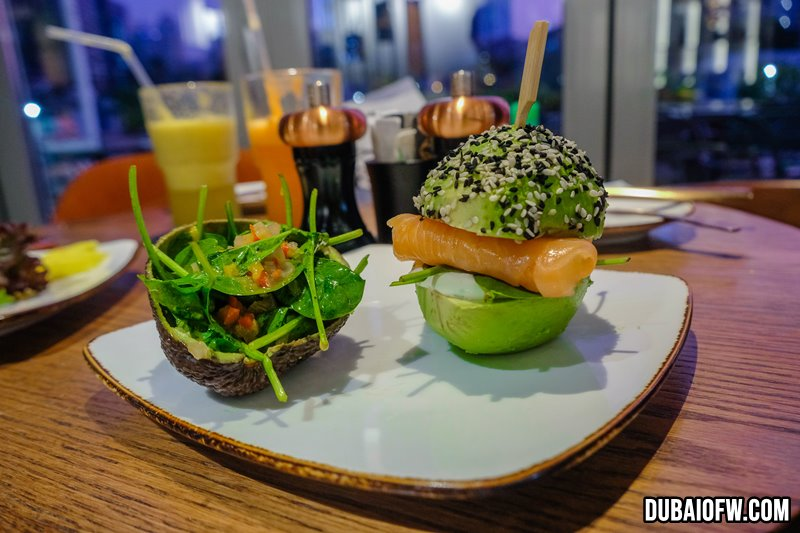 Avocado Salmon Burger - Q6 Bistro
