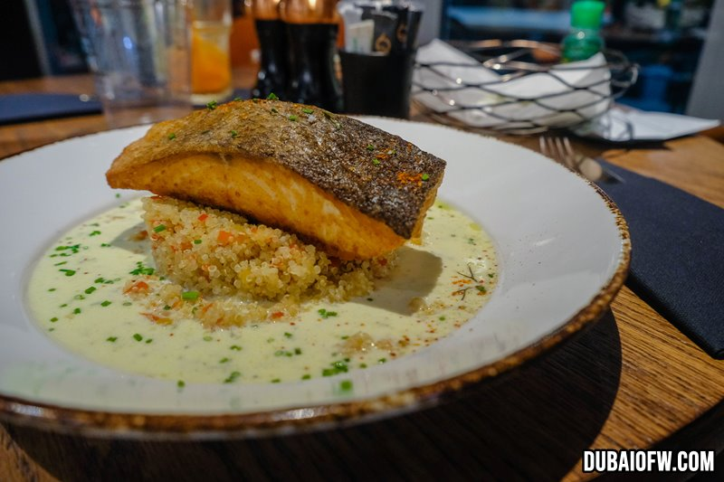 Grille Salmon on Quinoa
