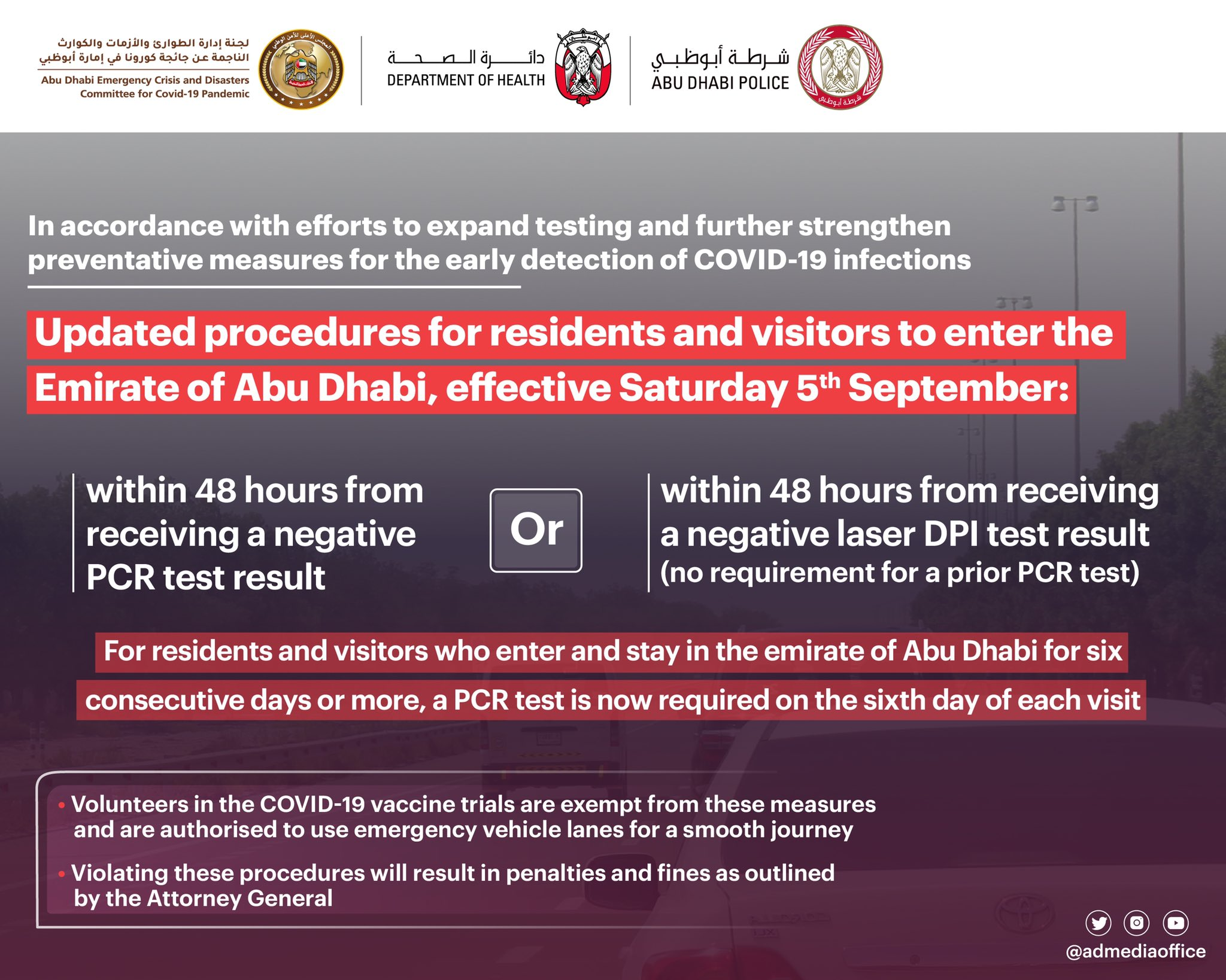 Abu Dhabi Bares New Guidelines for Entry Starting Sept 5