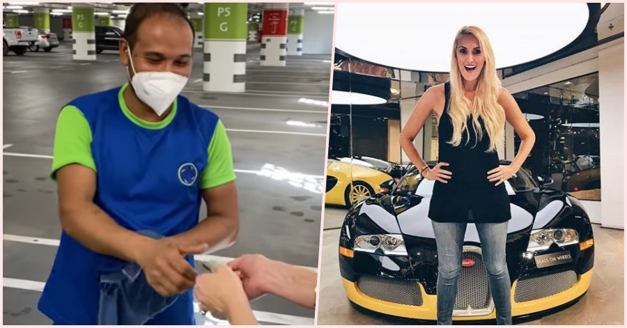[WATCH] Supercar Blondie Drops A Big Surprise to Dubai Car Cleaner