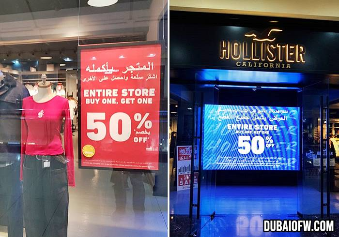 hollister dubai sale