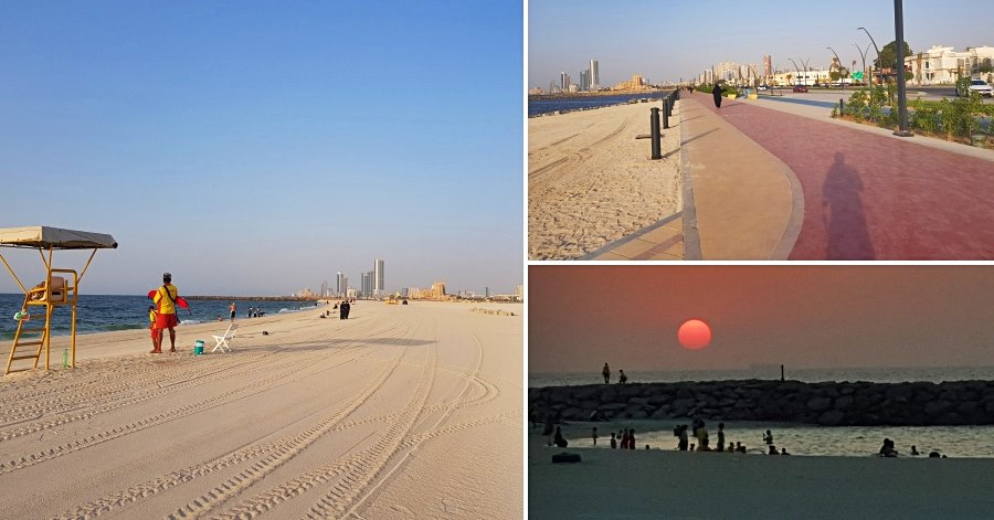 sharjah corniche near ajman border