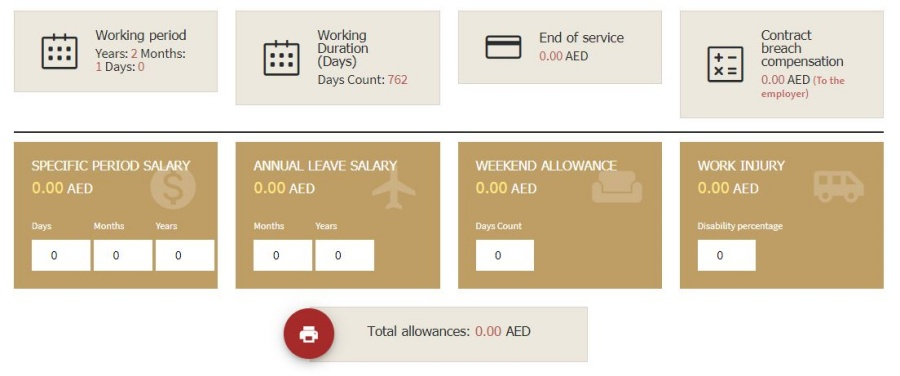 UAE Gratuity Calculator for Domestic Helpers
