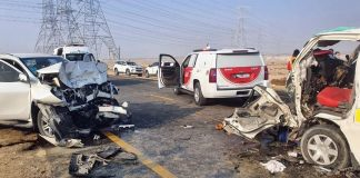 car accident in dubai hassah road