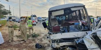 dubai bus accident al khail