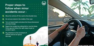 what to do during minor car accidents dubai