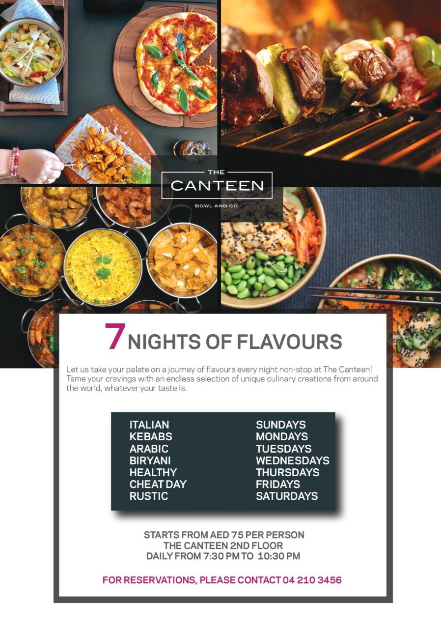 7 nights of flavours the canteen deira city center