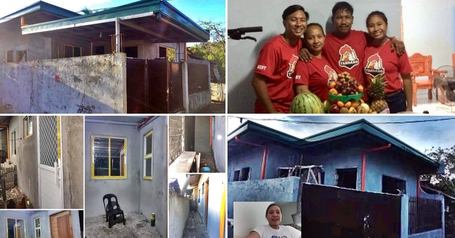 housemaid in saudi builds 2 bedroom house philippines