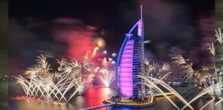 Burj Al Arab New Year Fireworks Livestream Video Online