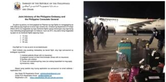 PH Gov't Outlines Categories for OFWs who can get Home via Repatriation Flights