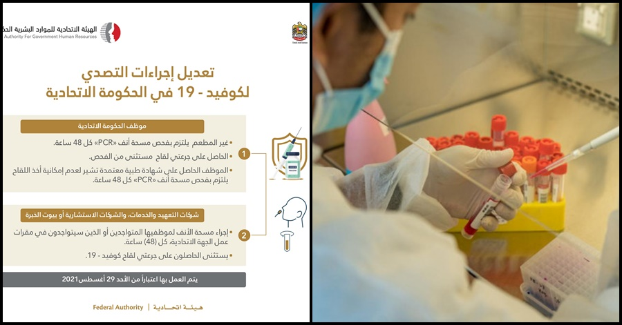 Unvaccinated UAE Gov't Workers Required to Undergo PCR Test After Every 2 Days